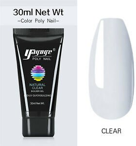 Details About UK Clear Hard Poly Nail Gel Varnish Quick Extension Soak Off Manicure Yayoge