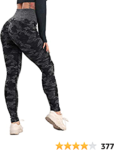 RIOJOY Women's High Waisted Workout Vital Seamless Leggings Butt Lift Tummy Control Yoga Pants Compression Gym Booty Tights