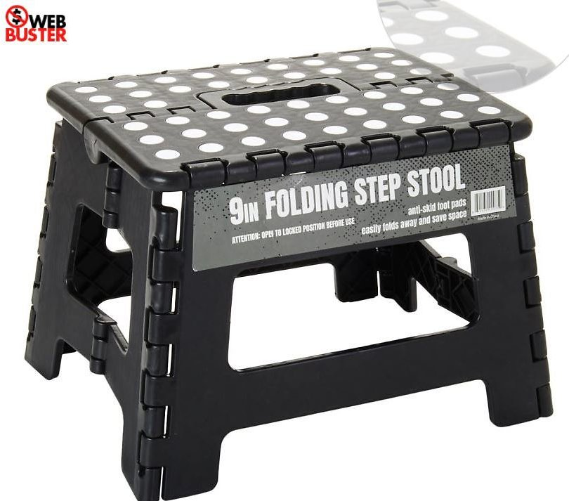 50% OFF | Gourmet Home 9in. Foldable Step Stool