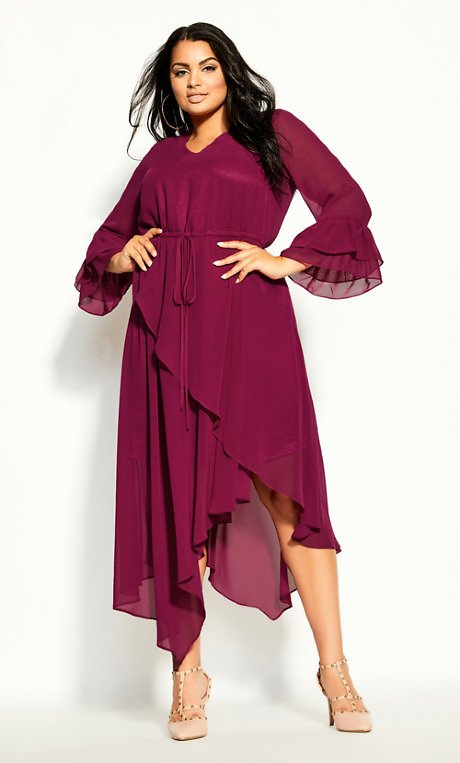 Hidden Treasure Maxi Dress - Sangria