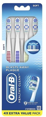 8-Count Oral-B Healthy Clean Toothbrushes