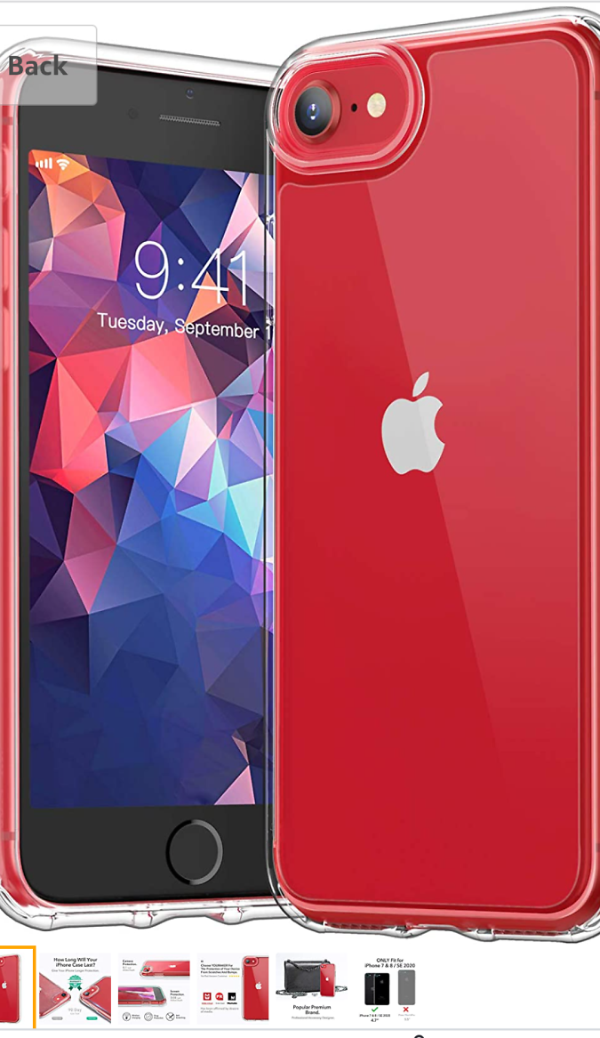 70% Off [2020 Upgraded] YOUMAKER Compatible with IPhone SE 2020 Case