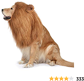 Dog Lion Mane,Funny Dog Costume,Adjustable Lion Mane for Dog Complementary Halloween Lion Costumes with Ears Dog Wig for Medium or Large Sized Dogs