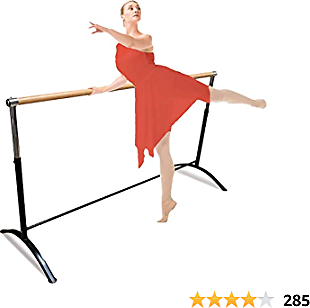 Artan Balance Ballet Barre Portable for Home or Studio, Freestanding Adjustable Bar for Stretch, Pilates, Dance or Active Workouts, Single or Double, Kids and Adults