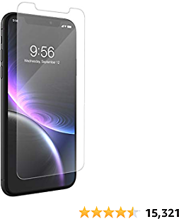 ZAGG InvisibleShield Glass+ Screen Protector – High-Definition Tempered Glass for The Apple IPhone XR – Impact & Scratch Protection