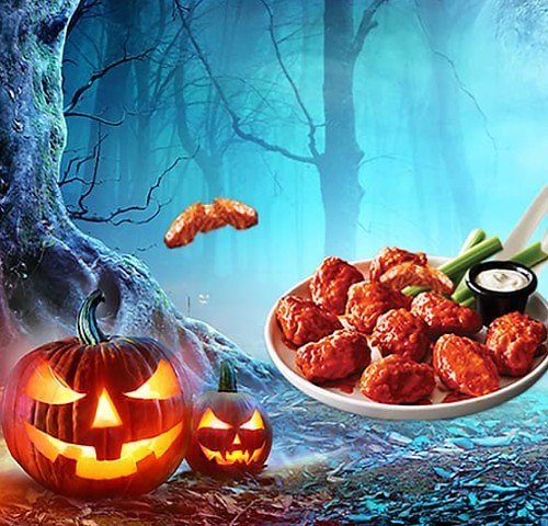 FREE Order of Boneless Wings W/P of $30 or More On 10/31