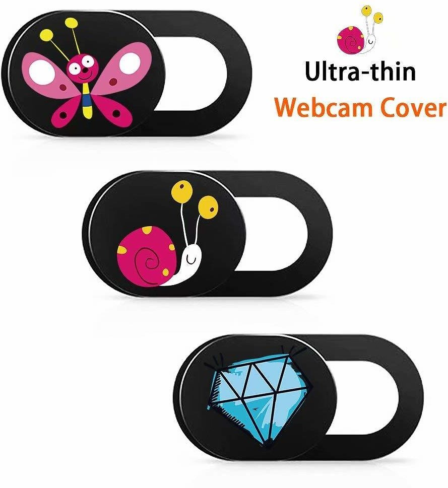 MAITTAO Universal Webcam Cover Slider, One Size Fit All Laptop, IPhone, IPad, Tablet, Mac Air, MacBook Pro - Ultra Thin Web Camera Cover, Protect Your Privacy and Security (3 Pack)
