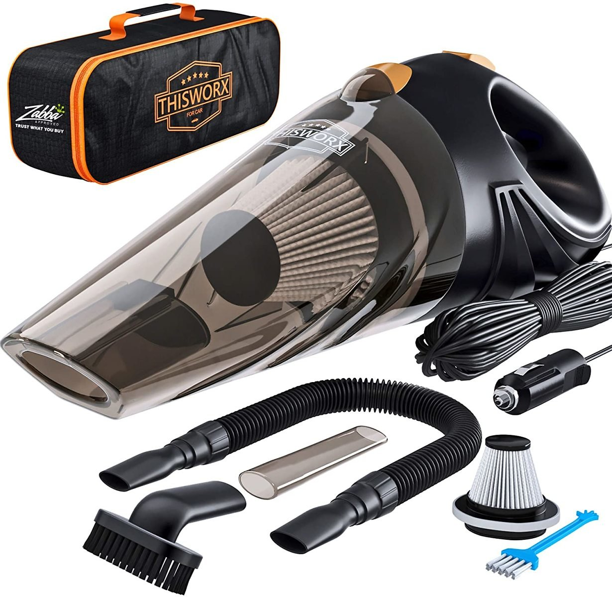 50% OffPortable Car Vacuum Cleaner: High Power Corded Handheld Vacuum w/ 16 Foot  - 12V - Best Car & Auto Accessories Kit F