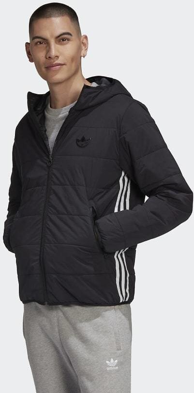 Adidas Lightweight Zip-Through Padded Trefoil Hoodie - Black | Adidas US