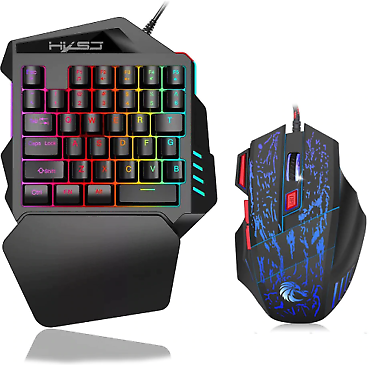 Keyboard And Mouse Combo Colorful Backlight Gaming Keyboards