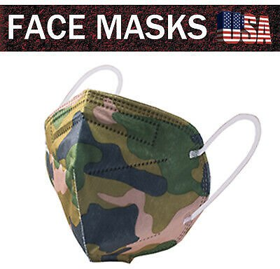 USA Seller 20PCS KN95 Face Mask 5-Layer Non-Medical Protective Mask Mouth Cover
