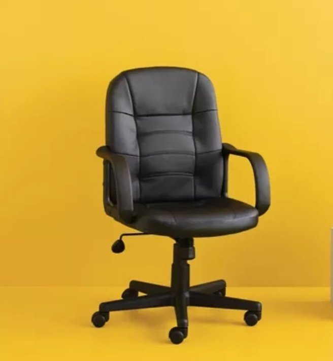 Office Chair Bonded Leather Black