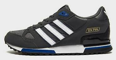 Adidas Originals Mens ZX 750 Trainers Grey / Black Shoes