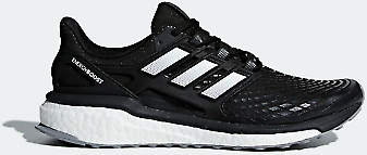 Adidas Mens Energy Boost Foot-hugging Shoes Black