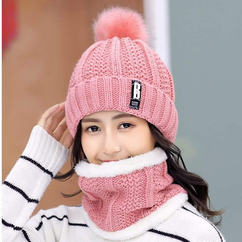 US $4.74 43% OFF|Brand Winter Knitted Beanies Hats Women Thick Warm Beanie Skullies Hat Female Knit Letter Bonnet Beanie Caps Outdoor Riding Sets|Women's Skullies & Beanies| - AliExpress