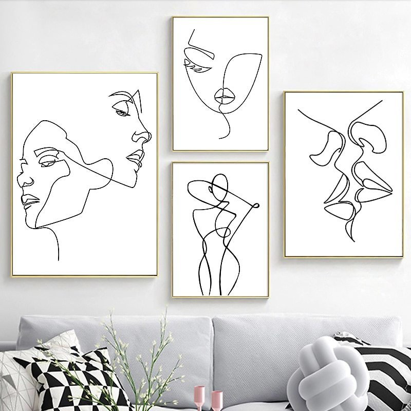 US $4.54 |Nordic Minimalist Figures Line Sexy Woman Body Nude Wall Canvas Paintings Drawing Posters and Prints Decoration for Livingroom|Painting & Calligraphy| - AliExpress