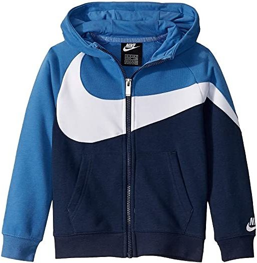 French Terry Color Block Full Zip Hoodie (Little Kids)