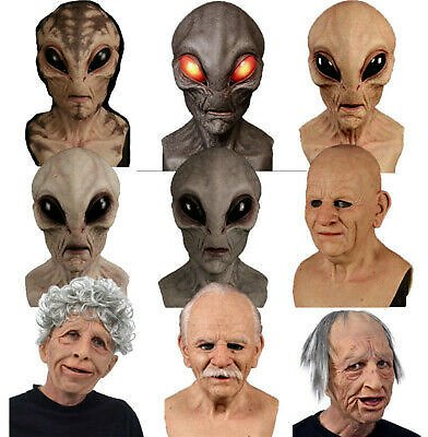 Hot!!! Bald Old Man Creepy Wrinkle Latex Face Mask Halloween Party Cosplay Props