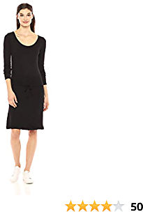 Amazon Brand - Daily Ritual Women's Supersoft Terry Drawstring Waist Dress