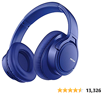 Mpow H7 Bluetooth Headphones, Comfortable Over Ear Wireless Headphones, HiFi Stereo Headset, Wireless/Wired Mode, CVC6.0 Microphone for Kids, Adults, Cellphone, Online Class, Home Office, PC
