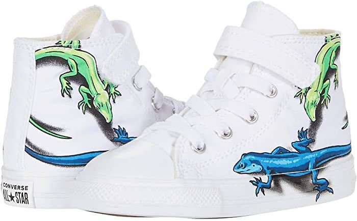 Converse Kids Chuck Taylor All Star 1V Leapin' Lizards - Hi (Infant/Toddler) | 6pm