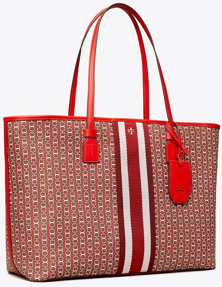 26% OFF | Gemini Link Canvas Top-Zip Tote Bag: Women's Handbags | Tory Burch