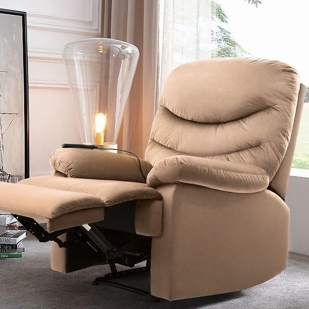 Walnew Slim Manual Recliner with Massage and Huge Pocket (3 Colors)