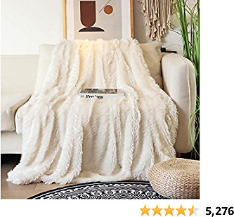 Decorative Extra Soft Faux Fur Blanket Full Size 70