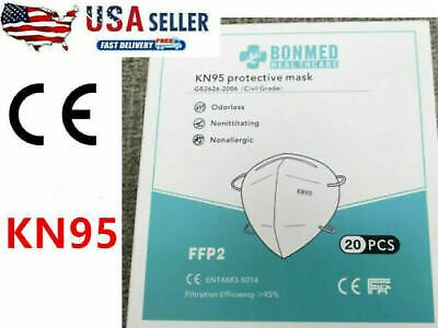 100 Pack KN95 Face Mask Disposable Cover Protection Respirator Masks 5-Layer
