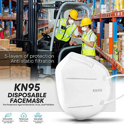 KN95 Protective Face Mask-1000 PC-5-Layer PM2.5 95% Disposable Respirator Cover