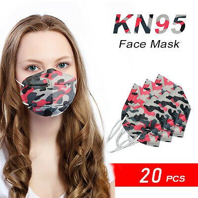 Adult Size [20 Pack] Disposable KN95 Face Mask PM2.5 Nose Protector USA Seller