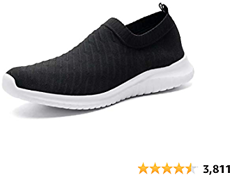 Konhill Women's Casual Walking Shoes Breathable Mesh Work Slip-on Sneakers