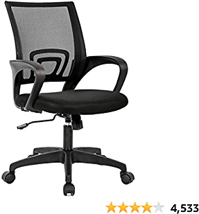 Home Office Chair Ergonomic Computer Chair with Lumbar Support Armrest Executive Rolling Swivel Adjustable Mid Back Task Chair