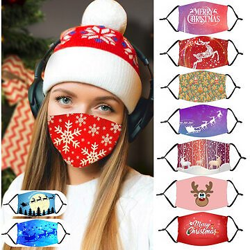 Adult Christmas Pattern Dust Mask with PM2.5 Filter Element Cosplay Mask Labor Insurance Supplies from Security & Protection on Banggood.com