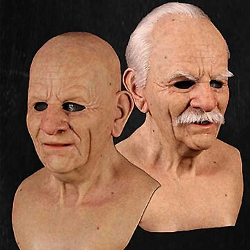 Halloween Face Wig Old Man Mask Horror HeadgearJewelryfromJewelry,Watches & Accessorieson Banggood.com