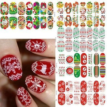 3D Christmas Elk Snowflake Luminous Nail Full Stickers  Nail Art & Tools from Health,Beauty & Hair on Banggood.com