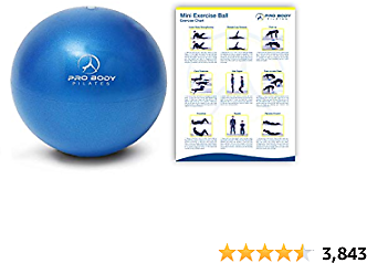 ProBody Pilates Mini Exercise Ball - 9 Inch Small Bender Ball for Stability, Barre, Pilates, Yoga, Core Training and Physical Therapy