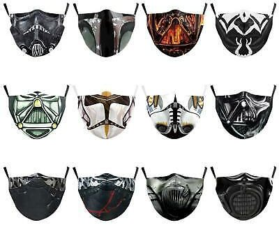 Adult Adjustable Cool Dark Lord Darth Vader Face Masks Mouth Protective 2Filters