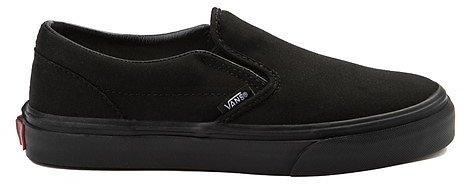 Vans Slip On Skate Shoe - Little Kid - Black Monochrome
