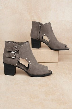 Dirty Laundry Tensley Grey Studded Suede Booties