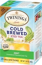 33% OFF | Twinings Cold Brew Mint Green Tea 20 Wrapped Tea Bags, Cold Brew Tea