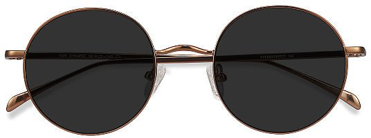 50% OFF | Sun Synapse - Round Brown Frame Sunglasses | EyeBuyDirect