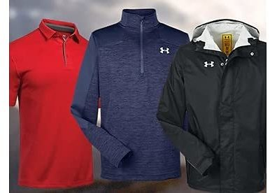 Today Only! Under Armour Men's Polos and Jackets