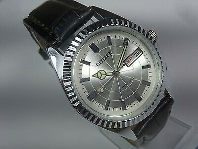 Vintage Citizen Automatic Movement Day Date Dial Mens Analog Wrist Watch TU27