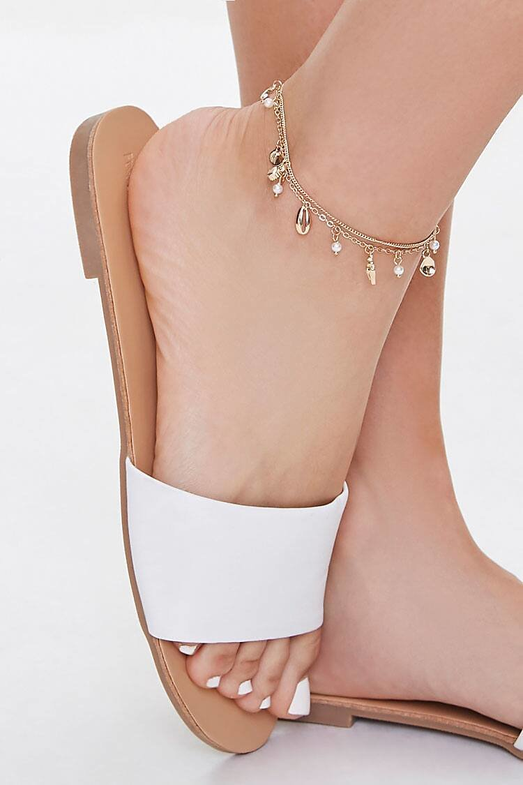 51% OFF Faux Seashell Anklet Set