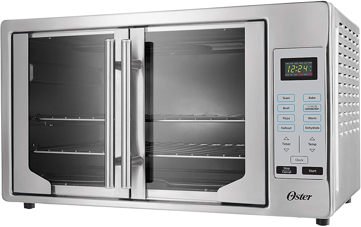 40% Off Oster French Convection Countertop and Toaster Oven   Single Door Pull and Digital Controls   Stainless Steel, Extra Lar