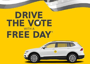 11/2-11/3 Drive The Vote with a Free Day from Hertz