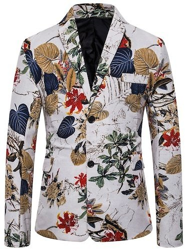 Foreign Trade Cocaine Ethnic Wind Splash Clothing Personality Men's Single-breasted Suit Jacket Male
