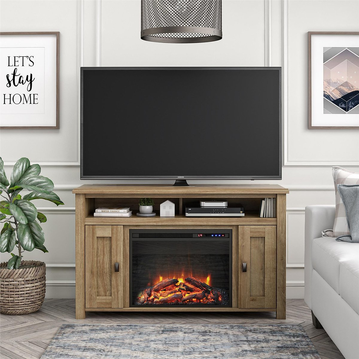 Ameriwood Home Falls Creek Media Fireplace for TVs Up to 50