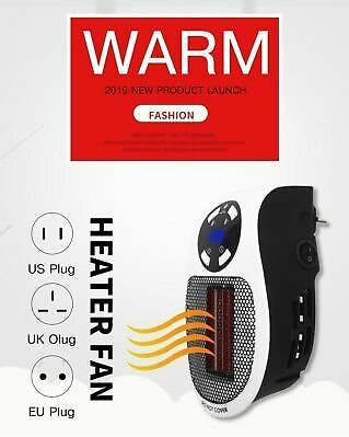 Digital Remote Portable Electric Large Room Home Heater Fan Warmer Air Thermosta